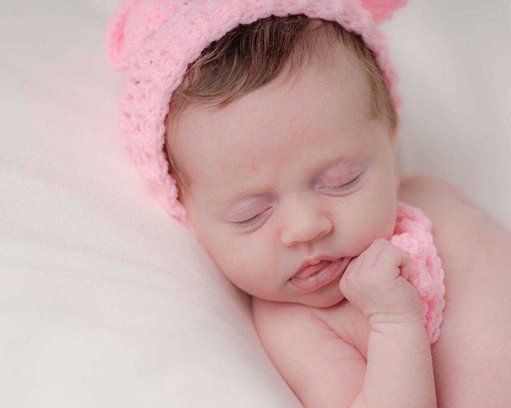 Newborn headshot girl